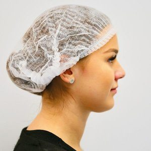 Disposable hair net bonnet by Joanne Lee